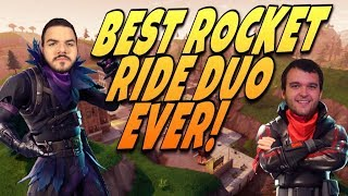 BEST ROCKET RIDE DUO IN THE WORLD! With NoahJ456! (Fortnite: Battle Royale)