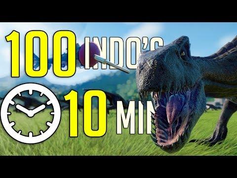 TRANQ 100 INDORAPTORS IN 10 MIN CHALLENGE!! || Jurassic World - Evolution |