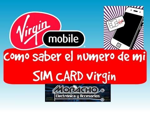 Virgin Mobile Colombia como saber el numero celular SIM CARD