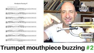 Trumpet mouthpiece buzzing ex #2 free PDF and Play Along