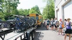 Bike ride along the Lehigh River Gorge Rail Trail.
