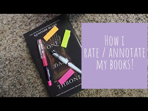 How I rate/ annotate my books