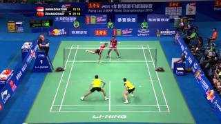Badminton World Championship 2013 Smash and Defence - Tontowi/Natsir VS Zhang/Zhao YL