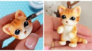 як зробити з полімерної глини котика
