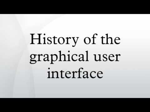History of the graphical user interface