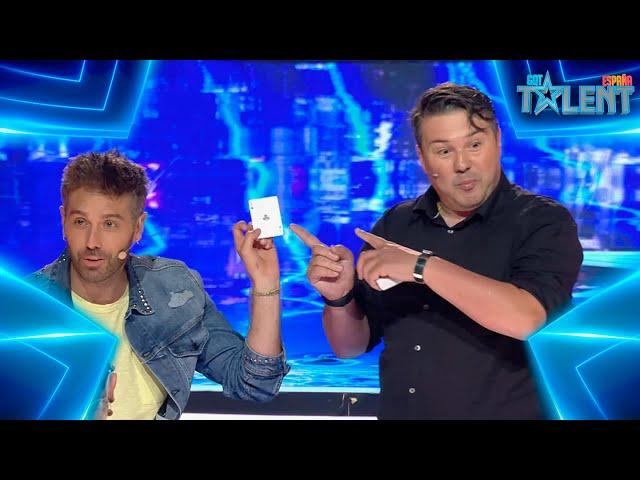 WOW: El INEXPLICABLE TRUCO de CARTAS de este MAGO   Audiciones 3   Got Talent España 7 (2021)