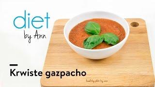 Krwiste gazpacho - pycha hiszpański chłodnik! Składnik przepisu: pomidory, papryka czerwona...