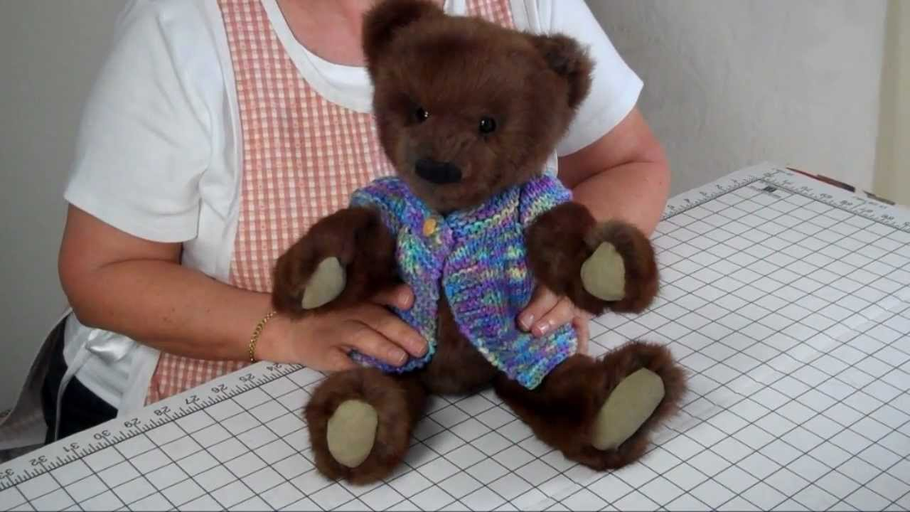 a8f22e232e2 How to Make a Jointed Fur Teddy Bear - Part 14 Final Steps - YouTube