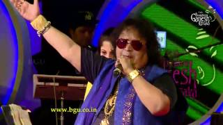 Bappi Lahiri singing Hindi film songs Medley - 1 @ 54th Bengaluru Ganesh Utsava