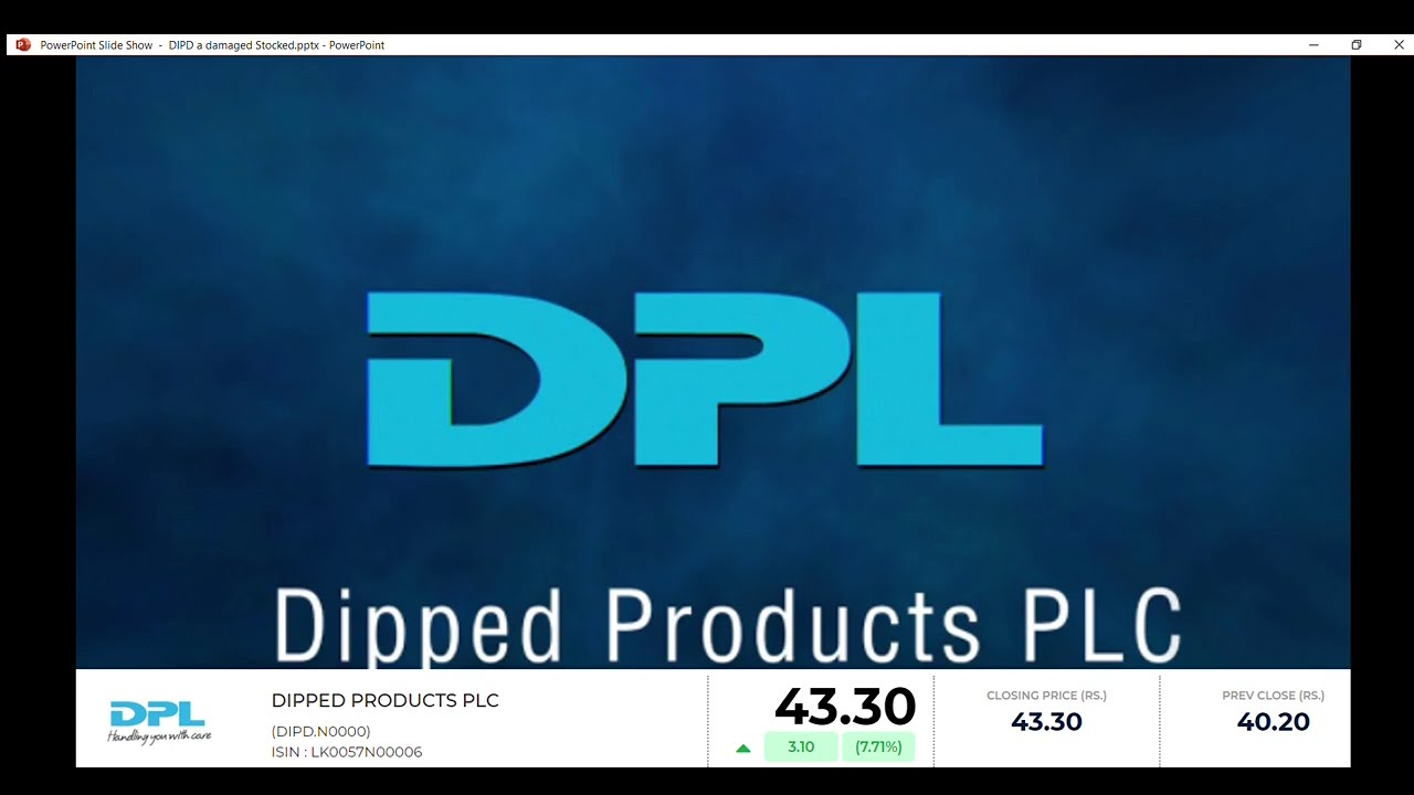 Download Dipped Products PLC (DIPD)