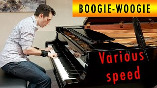 Extreme vary speed boogie woogie piano blues - Ben Toury