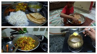 Monday lunch routine||Make Delicious lunch in 40 minutes|| DAL,CHAWAL, MIX VEG, WITH DOSTI ROTI ||