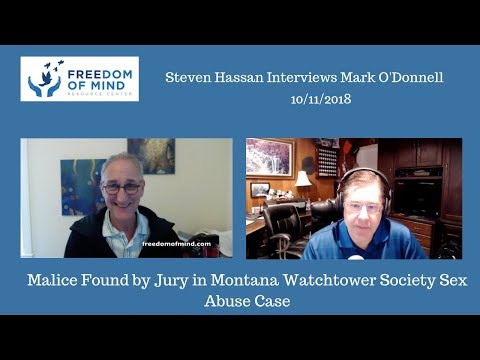 Malice Found by Jury in Montana Watchtower Society Sex Abuse Case