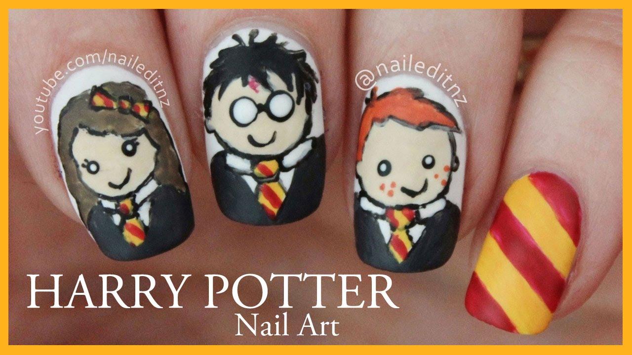 Harry Potter Nail Art Tutorial Youtube