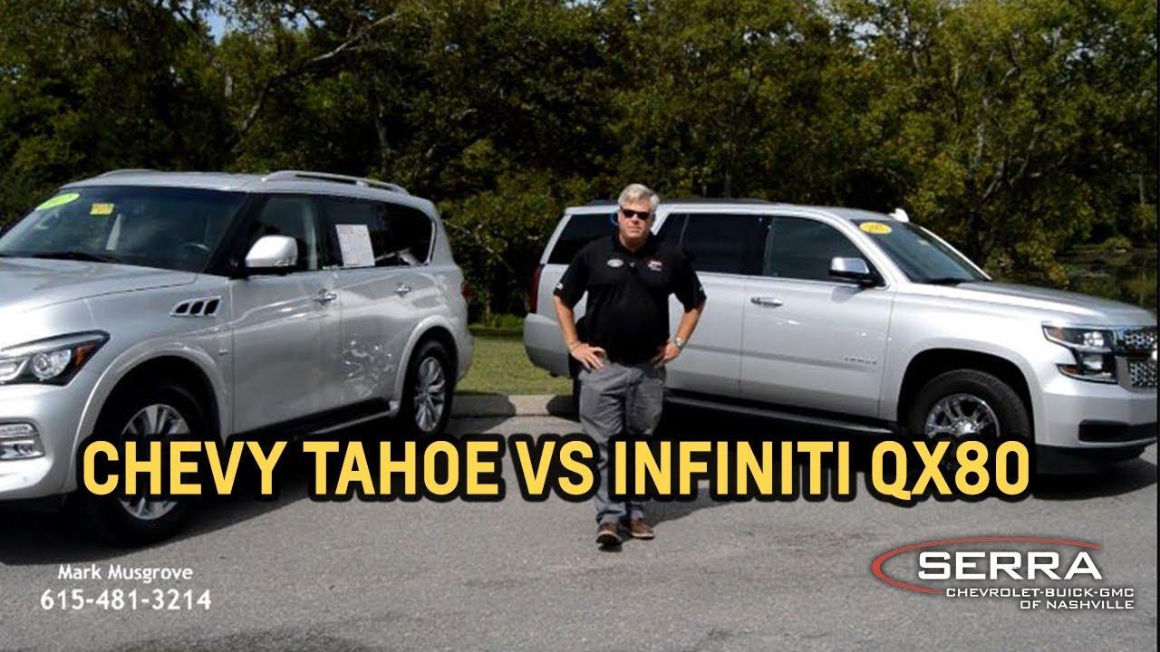 2017 Infiniti QX80 VS 2017 Chevy Tahoe - Serra Chevrolet Buick GMC of  Nashville