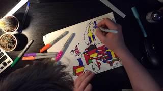 TIME LAPSE DRAWING OF EUROPE! - Mikij10