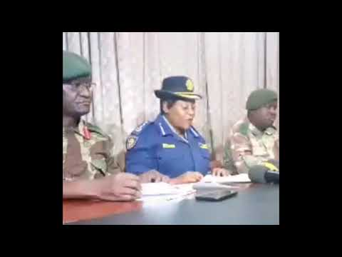 Joint Police & Army Statement: People With Stolen/Replica Uniforms Blamed for Violence (19 Jan 2019)