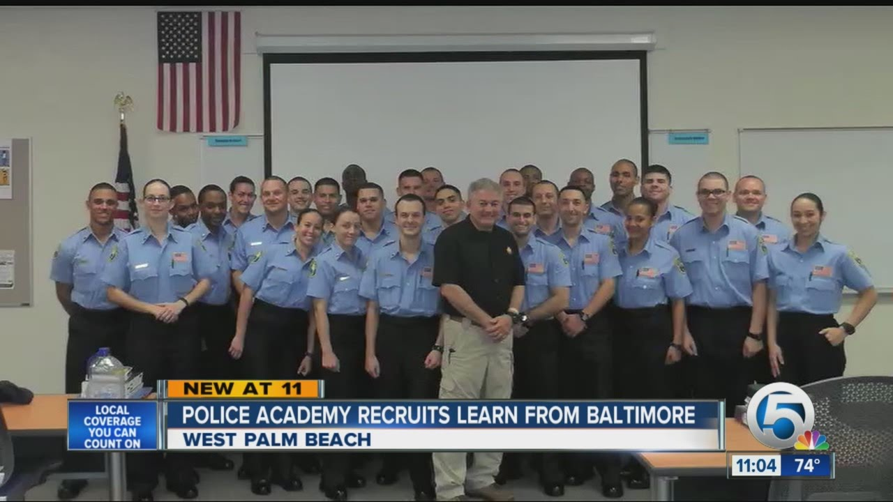 Police Academy Recruit Learning From Officers In Baltimore Riots Youtube