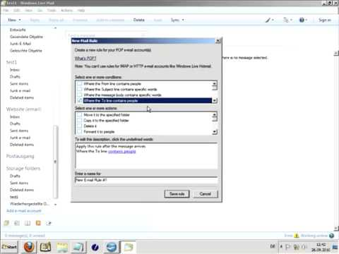 Windows Live Mail video 3