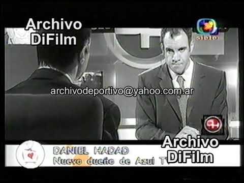 Daniel Hadad Compro Azul TV Canal 9 - DiFilm 2002
