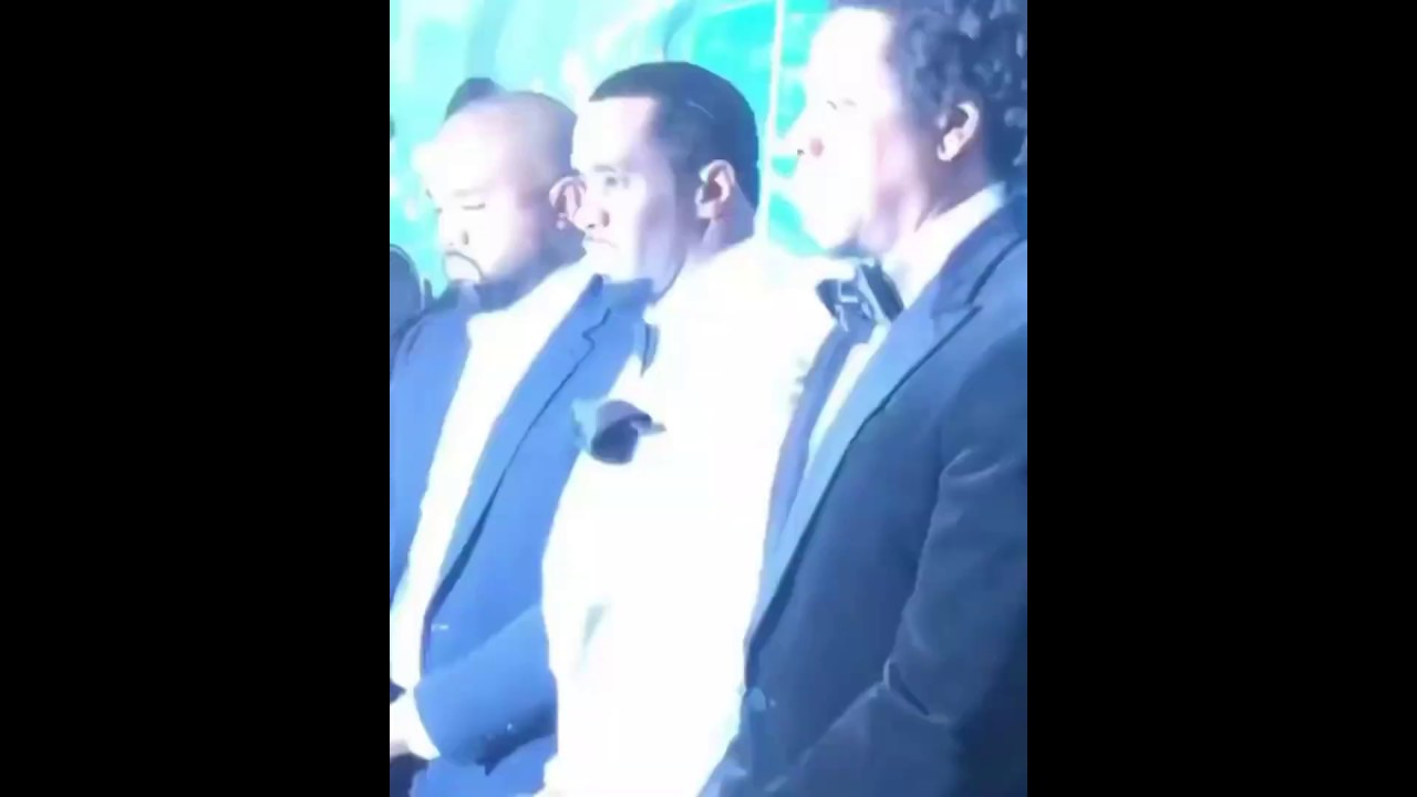 Jay z Snatches Guy Phone Plus Re unites With Kanye At Diddy's 50th Bday Party