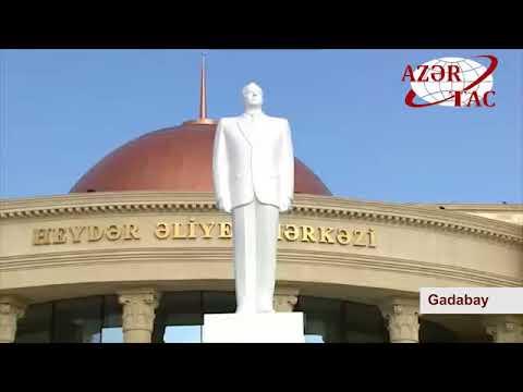 President Ilham Aliyev arrived in Gadabay district for visit