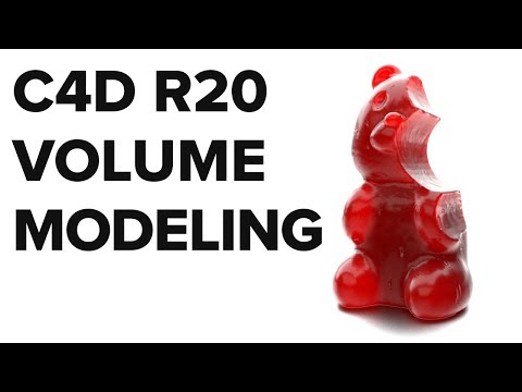 Volume Modeling - Easily Create Complex Organic Models [New in C4D R20]