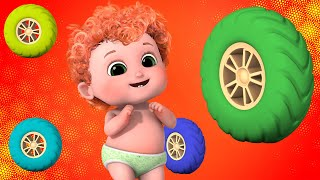 Wheels On The Bus  Go Round and Round - Best Nursery Rhymes Collection | Bundle of Joy