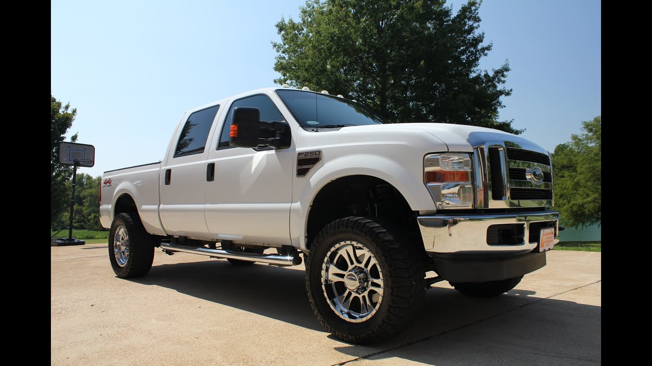 2008 ford f250 xlt lifted 4x4 diesel crew cab for sale see www sunsetmilan com used tn youtube