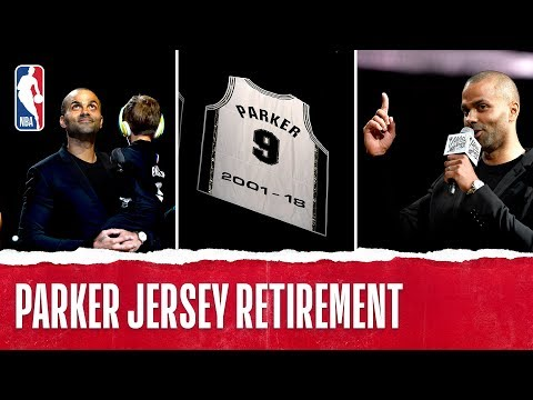Tony Parker's No.9 Goes Into The Rafters Forever