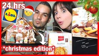 Τρώω Χριστουγεννιάτικα Snacks από τα Lidl για 24 ώρες | Marianna Grfld