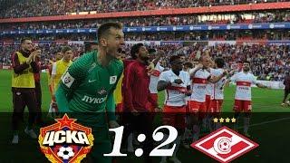 CSKA - Spartak 1:2 Moscow derby. Goals and Highlights 30/04/2017
