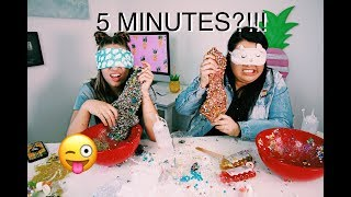 5 minute blindfolded slime challenge with karina garcia