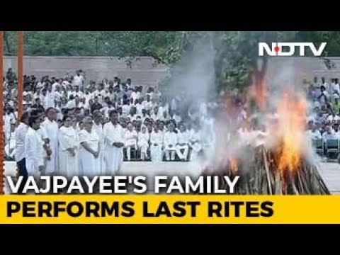 Former PM Atal Bihari Vajpayee Cremated With State Honours