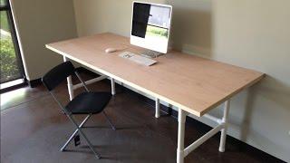 сделать компьютерный стол своими руками(Интересный проект о том как из PVC трубы и фитингов изготовить компьютерный стол. И се это своими руками., 2015-02-15T18:55:07.000Z)
