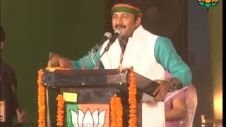 BJP Leader Shri  Manoj Tiwari Adresses at Bharat Vijay Rally at Delhi on 26 March 2014