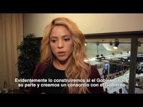 """Shakira: """"Today's babies will solve tomorrow's problems"""" (Reuters interview, Davos)"""