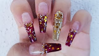 Glitter  GEL Nails Let the party begin🍾