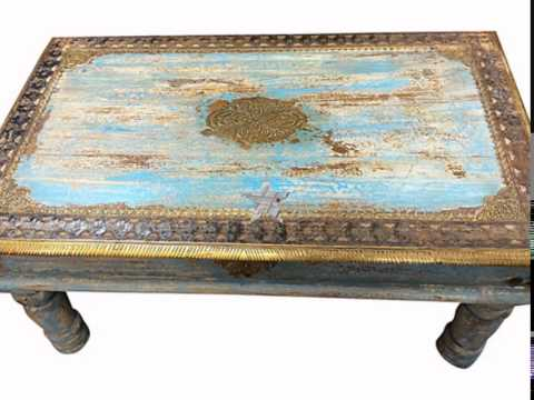 Antique Table And  Benches Indian Furniture