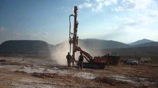 Wagon drill at solar energy station - Greece
