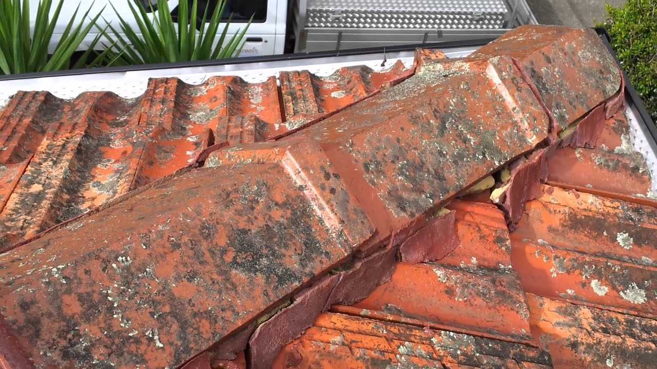 A Cheap House Gutter Job On A Tile Roof Youtube
