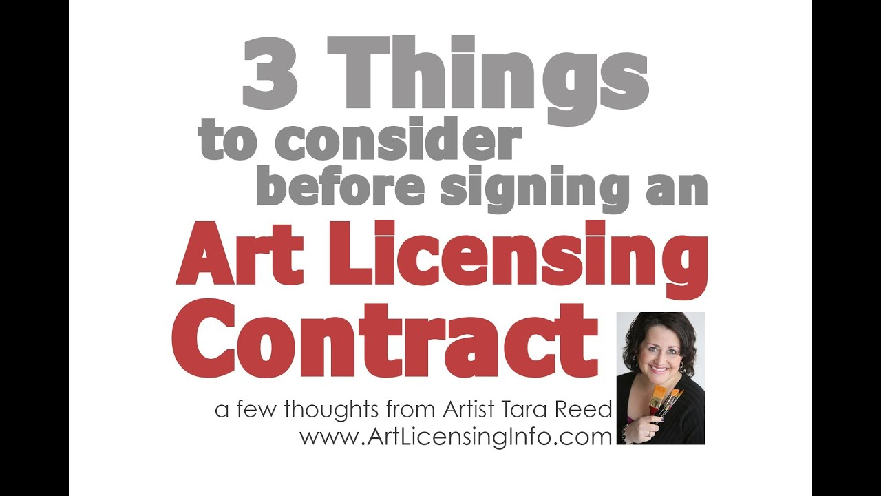 3 Things To Consider Before Signing An Art Licensing Contract Youtube
