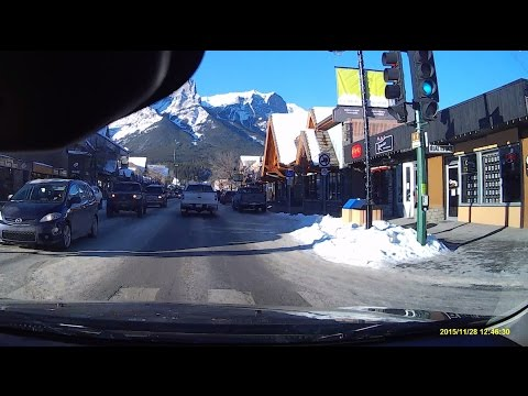 Downtown Canmore Alberta, A Beautiful Little Town In The Rocky Mountains