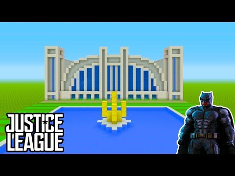 "Minecraft Tutorial: How To Make The Hall Of Justice ""Justice League Headquarters"""