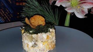 Простой салатик который вы полюбите!!! подготовка к новому году!!!