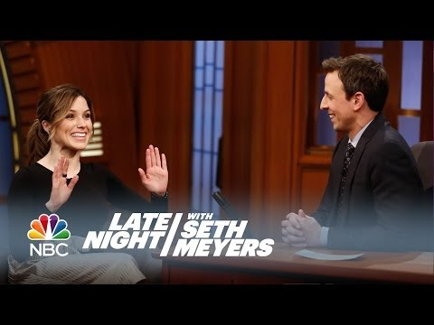 Sophia Bush Interview - Late Night with Seth Meyers