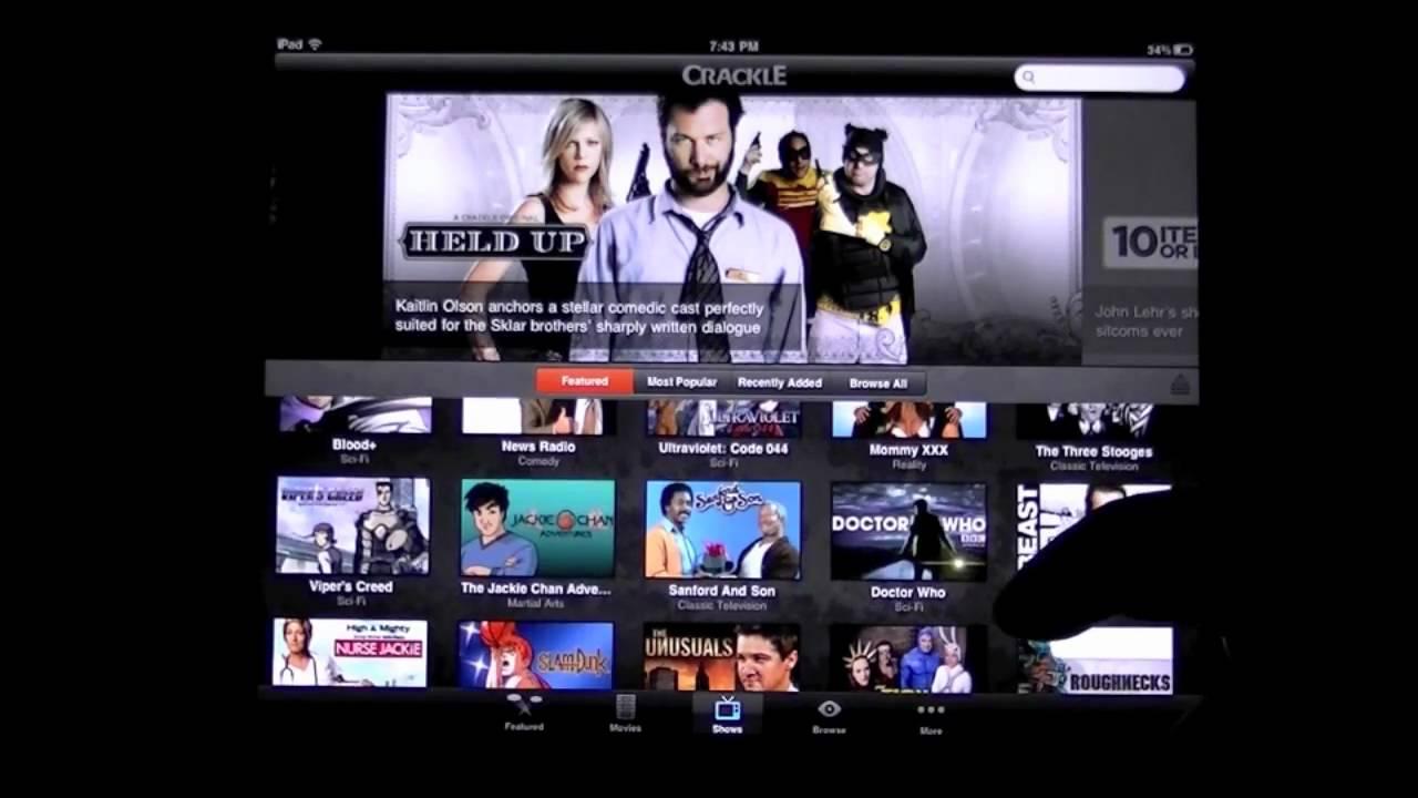 Crackle Movies & TV iPad App Review CrazyMikesapps com