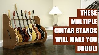 Best Wood Multiple Guitar Stands from GuitarStorage.com
