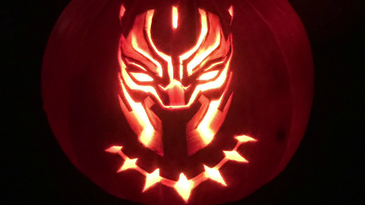 Pumpkin Carving Of Black Panther Youtube
