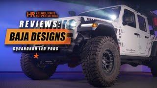 Baja Designs Squadron Pod Light Review - Beam Pattern & Color Options + Testing!